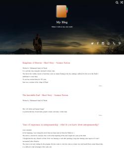 A blog site
